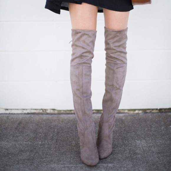 92aa33b39d5 Steve Madden Womens Niela Over the Knee Boot Taupe